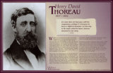 Writers Who Changed the World - Henry David Thoreau Print