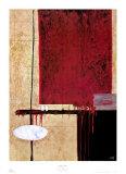 Rot und Schwarz I Poster von Jack Roth