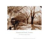 Hampstead Ponds, London Prints by Derek Langley