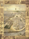 Carte de Paris I Posters by Susan Gillette
