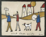 Black Shoes Society Print by L Mason