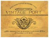 Vintage Port Posters by Angela Staehling