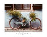 Bicicleta azul Arte por Dennis Barloga