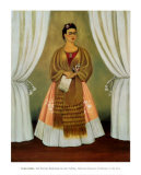 Self-Portrait Dedicated to Leon Trotsky, 1937 Prints by Frida Kahlo