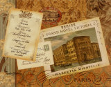 Grand Hotel Paris Print by Pamela Gladding