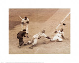 Jackie Robinson Stealing Home, May 18, 1952 Print by Nat Fein