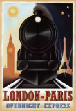 London-Paris Overnight Express Posters por Steve Forney