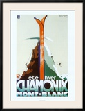 Ete Hiver Chamonix Mont-Blanc Prints by Henry Reb