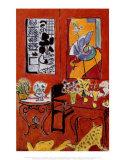 Gran interior rojo, 1948 Lámina por Henri Matisse