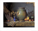 Olive Jar and Apricots Posters by Jeffrey Legg