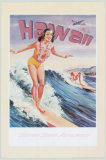 Envolez-vous vers Hawaii, pin-up Affiches