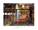 Bicicletta sul canale Poster di Dennis Barloga