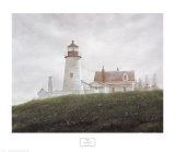 Fog at Pemaquid Print by Douglas Brega