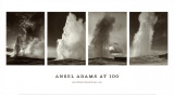 Geyser &#171;&#160;Old Faithful&#160;&#187; Affiche par Ansel Adams