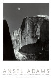 Mond und Half Dome, Yosemite-Nationalpark, 1960 Poster von Ansel Adams