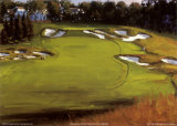 18th Hole Beth Page Print by Edward Martinez