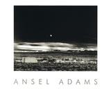 Salida de la luna, Hernández Lámina por Ansel Adams