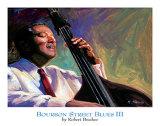 Blues sur Bourbon StreetIII Poster par Robert Brasher