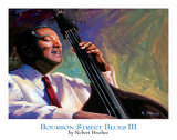 Bourbon Street Blues III Poster by Robert Brasher