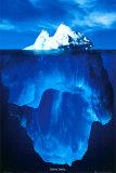 IJsberg, verborgen diepten, met Engelse tekst: Hidden Depths Poster