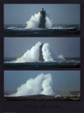 Le phare du Four (triptyque) Affiches par Philip Plisson