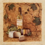 Chardonnay and Cheese Poster by Charlene Winter Olson