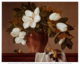 Magnolia with Apricots Prints by Joe Anna Arnett