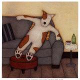Lounging Dog Poster von Helga Sermat