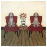 Two Dogs Art by Helga Sermat