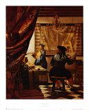 Artist's Studio Kunstdrucke von Jan Vermeer