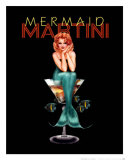 Mermaid Martini Poster von Ralph Burch