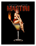 Red Hot Martini Posters by Ralph Burch