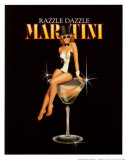 Razzle Dazzle Martini Print by Ralph Burch