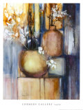 Still Life with Two Vases Posters by Sandy Clark
