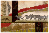 Serengeti Zebras Plakater av Joseph Poirier