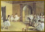 Le Foyer de la danse à l'opéra - Bordure dorée Affiche montée par Edgar Degas