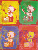 Four Pandas, 1983 Posters by Andy Warhol