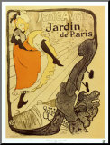Jardin de Paris Mounted Print by Henri de Toulouse-Lautrec