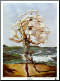 The Ship Mounted Print by Salvador Dal&#237;