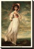 Pinkie - Gold Trim Mounted Print by Thomas Lawrence