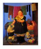 Die Witwe Poster von Fernando Botero