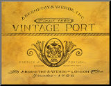 Vintage Port Mounted Print by Angela Staehling