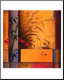 Séparé di bambù Stampa montata di Don Li-Leger