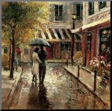 Romantic Stroll Mounted Print by Brent Heighton