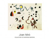 Femmes et Oiseau la Nuit, 1945 Poster by Joan Miró