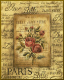 Bel Bouquet II - mini - Bordure dor&#233;e Affiche mont&#233;e par Kimberly Poloson
