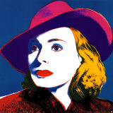 Ingrid with Hat Collectable Print by Andy Warhol