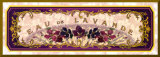 Eau de Lavande - Gold Trim Mounted Print by Susan W. Berman