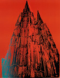 Cologne Cathedral, c.1985 (Red) Collectable Print by Andy Warhol