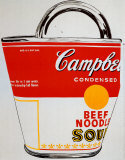 Bolsa de Lata de sopa Campbell Lminas por Andy Warhol